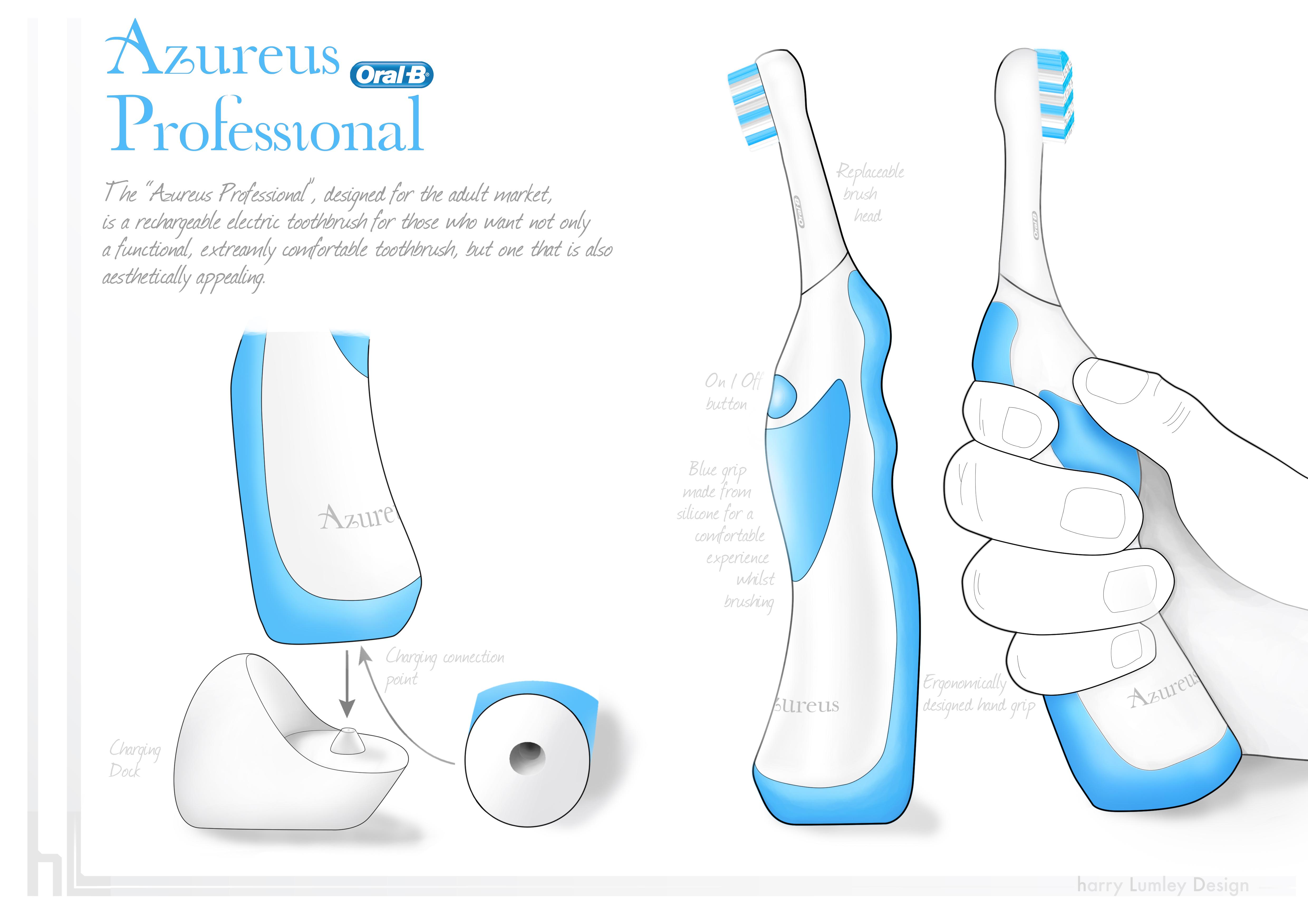 final oral b electric toothbrush design the azureus oral b